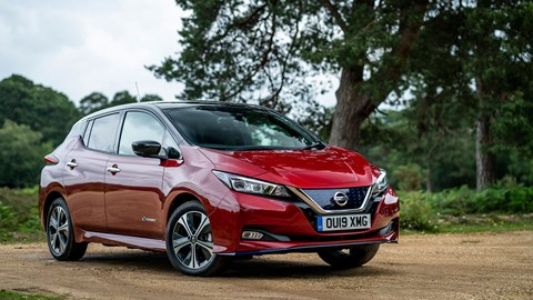 Nissan Leaf electric car: available with a choice of different battery capacity