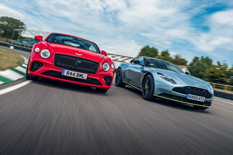 Our Conti GT V8 took on the Aston DB11 at Goodwood (photos by Alex Tapley)