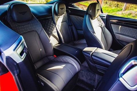 2+2 seats in the Bentley Continental GT