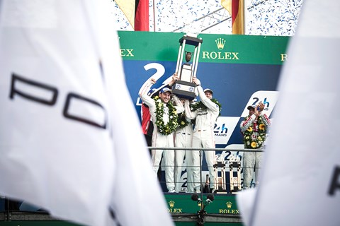 Le Mans 2015 podium