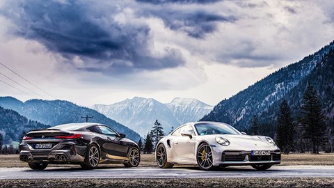 Two five-star cars: but only one winner in our Porsche 911 Turbo and BMW M8 twin test
