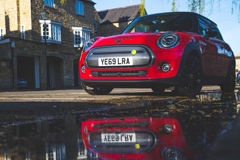 Mini Electric parked