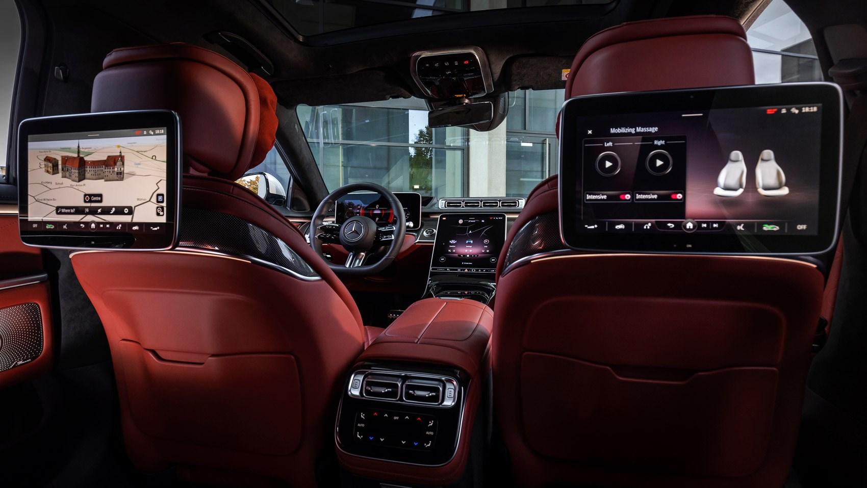 S-class rear seat