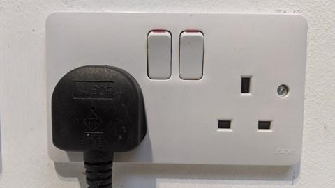 Electric car charging at home - three-pin socket