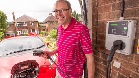 Electric car charging at home - home wallbox