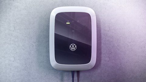 Electric car charging at home - VW charger