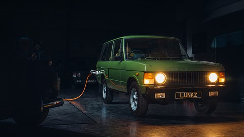 Lunaz converts the Range Rover as part of a bare metal restoration