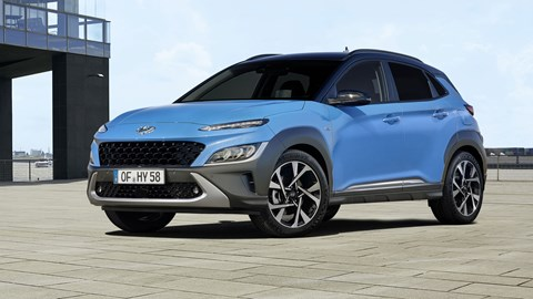 Hyundai Kona facelift, 2020, blue, front view