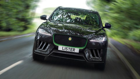 Lister Stealth - front view, driving, suspiciously photoshopped