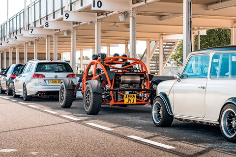 Ferraris, Porsches, Minis, Ariels and red-hot VW Golf R Estates at the Goodwood track day