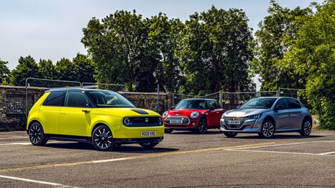 The three best electric superminis: Honda E takes on the Peugeot e-208 and Mini Electric