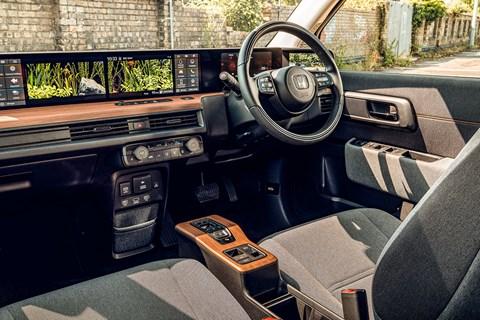 Honda E interior: space-age meets retro cool