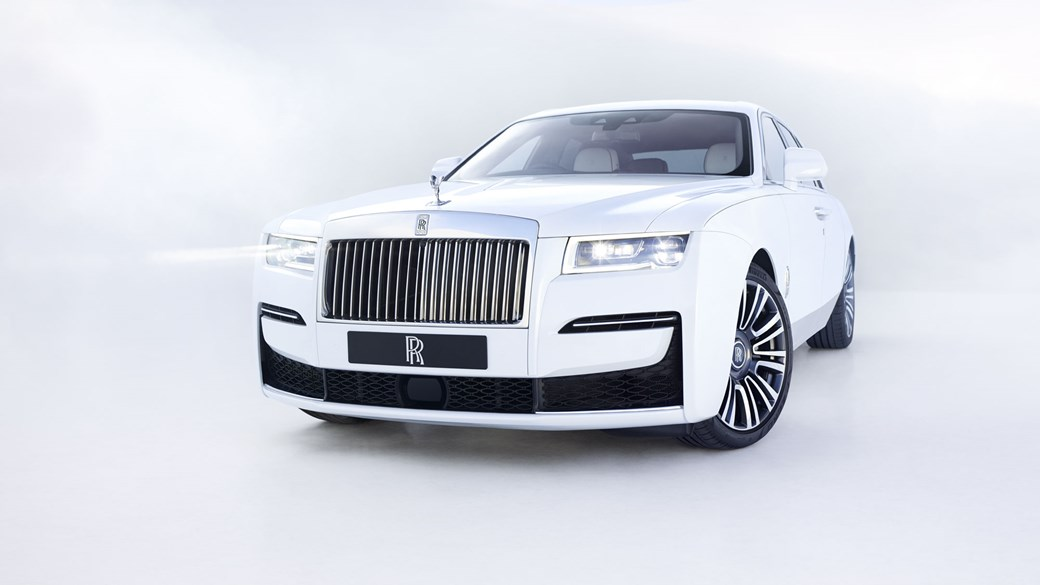 Rolls-Royce Ghost, 2020, front view, white