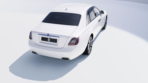 Rolls-Royce Ghost, 2020, white, rear view, high