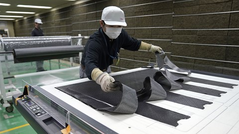 Nissan carbonfibre breakthough - raw fibre weave