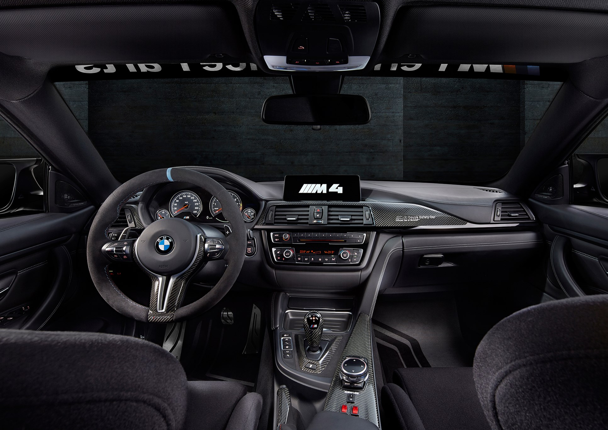 bmw m4 motogp safety car 2015 four wheels policing two by car magazine. Black Bedroom Furniture Sets. Home Design Ideas