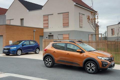Dacia Sandero and Stepway (2021) main view