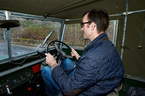 Inside the 1949 Land Rover Series 1