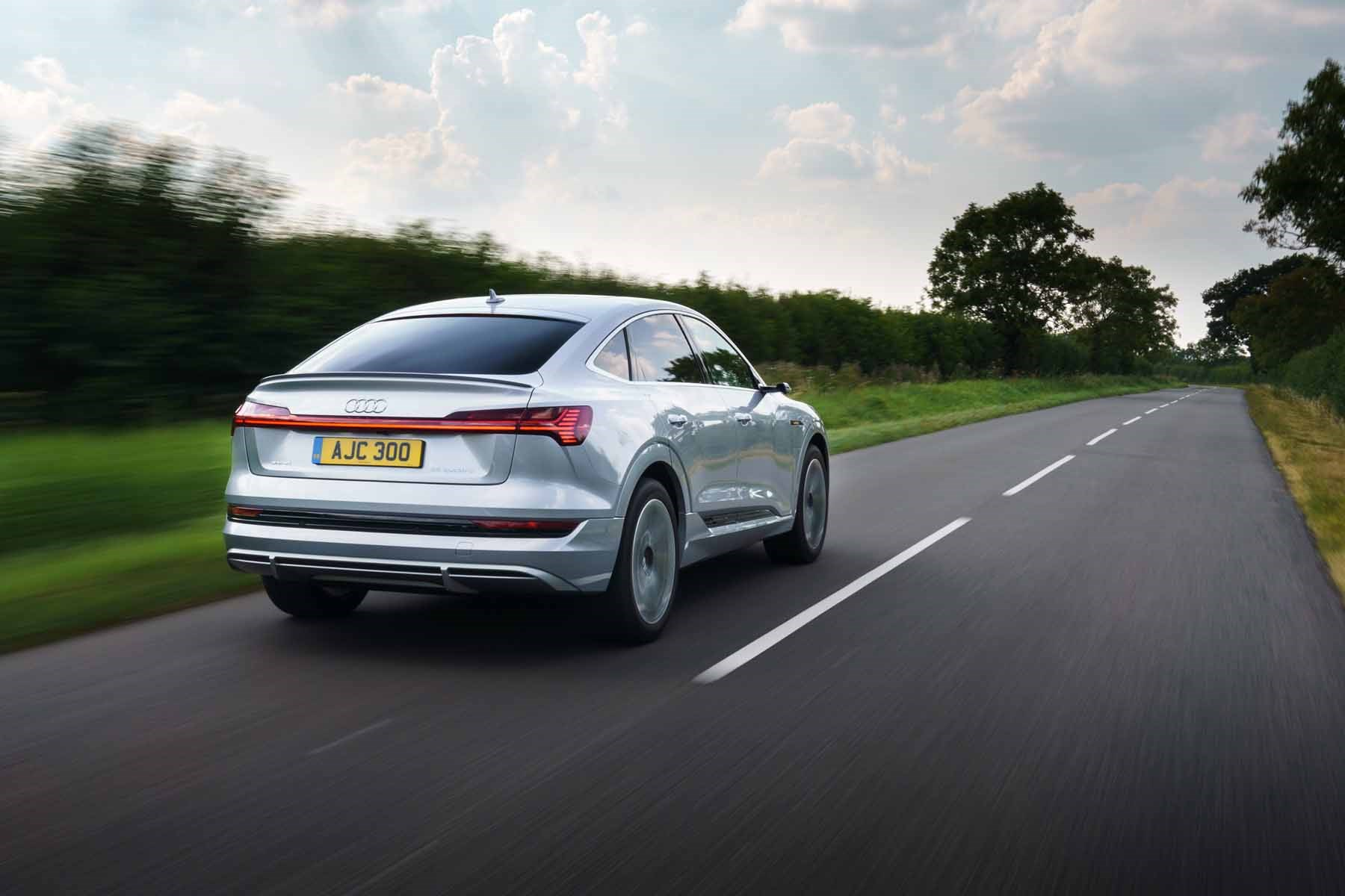 Audi e-Tron Sportback rear driving