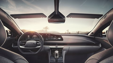 Lucid Air electric car, interior, front view