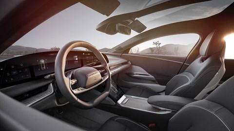 Lucid Air electric car, interior, Glass Cockpit display