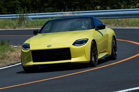 Nissan Z Proto front cornering