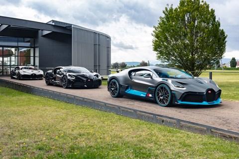 Bugatti Divo trio]