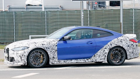This prototype 2022 BMW M4 CSL has a rollcage and rear-seat delete option