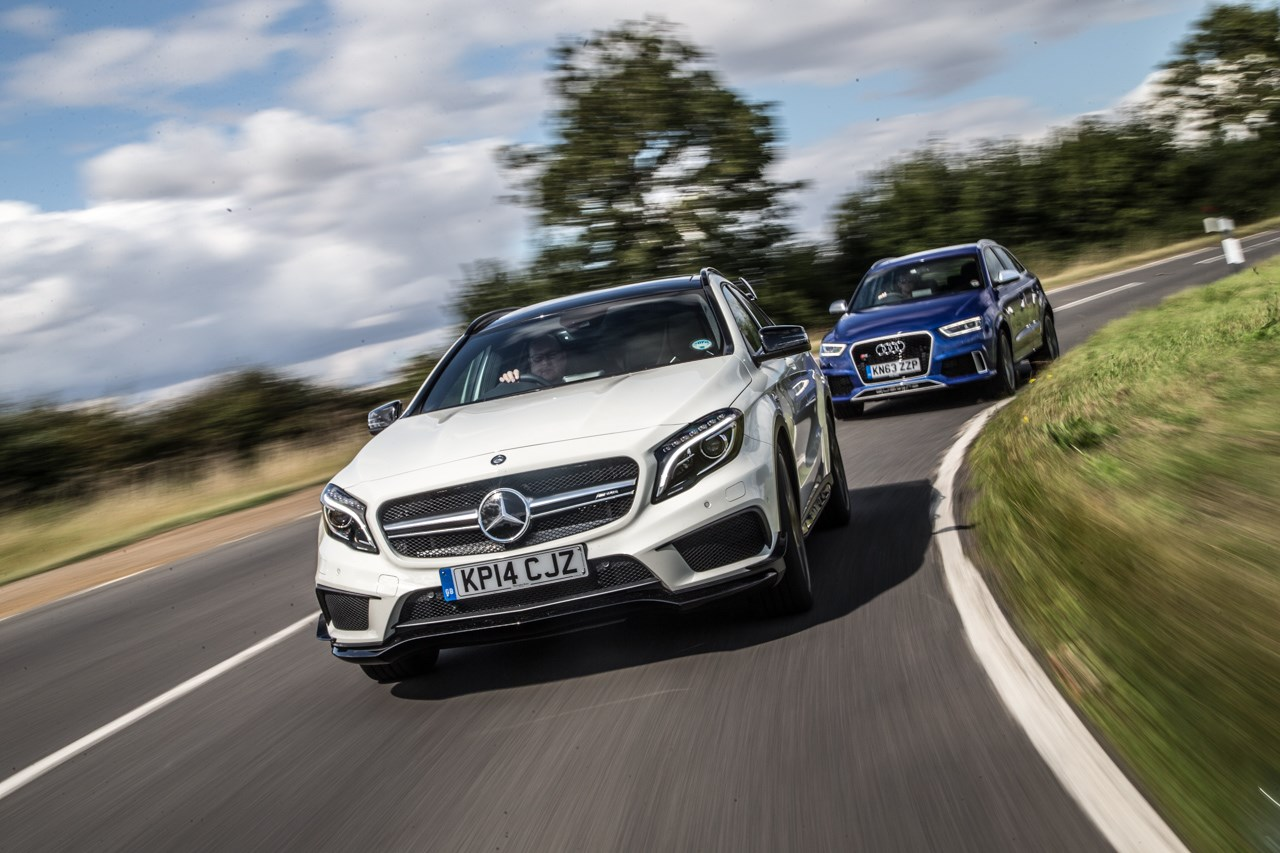 Mercedes Gla45 Amg Vs Audi Rs Q3 Twin Test Review By Car