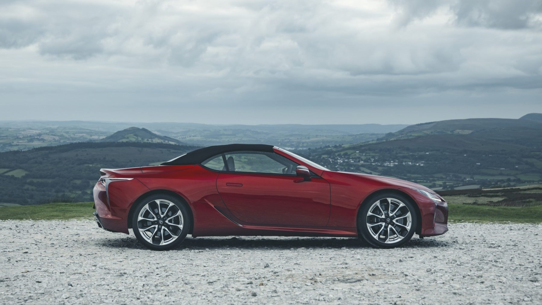 2020 Lexus LC Convertible - side, roof up