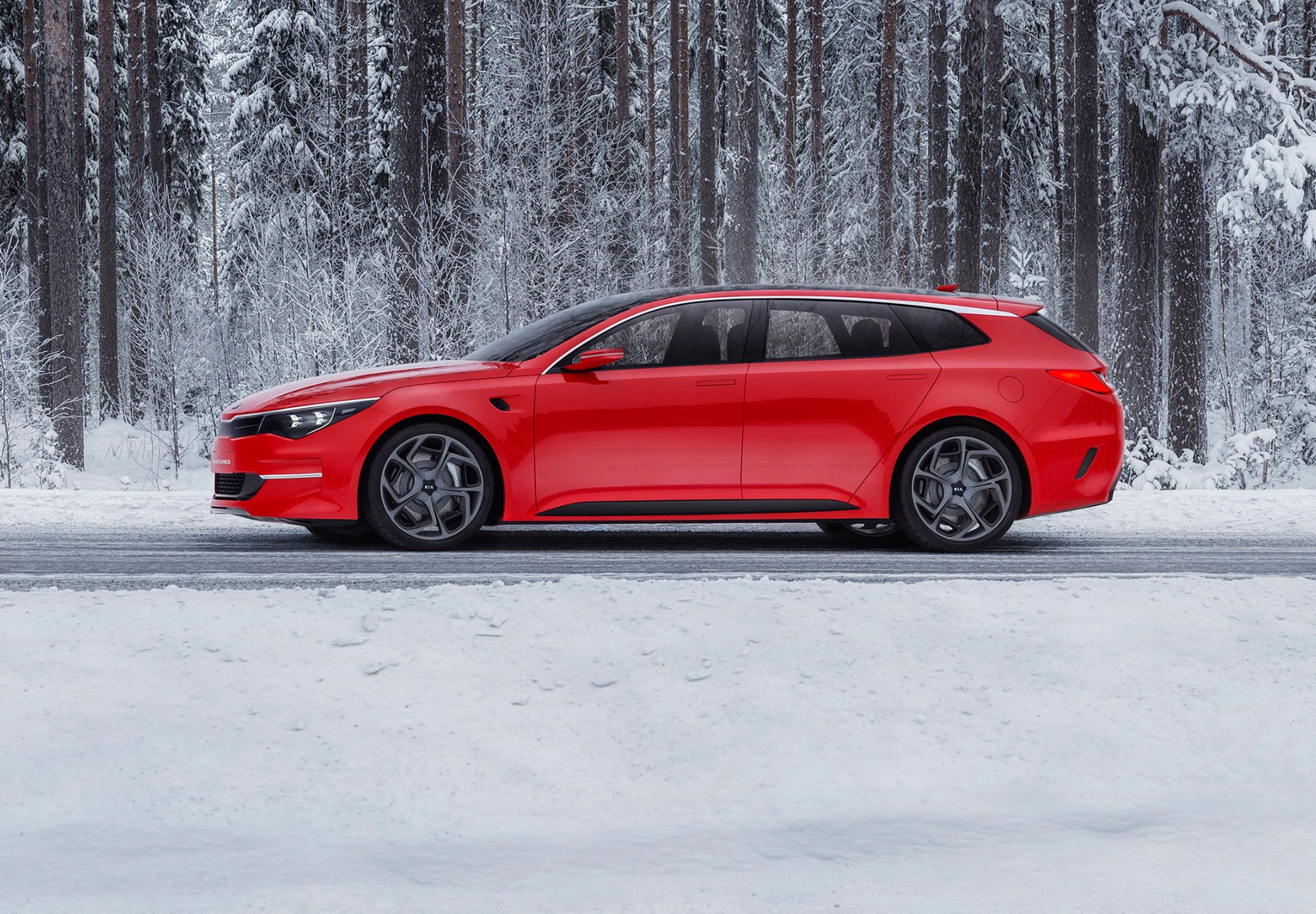 kia sportspace 2015 revealed it s a new optima estate by car magazine. Black Bedroom Furniture Sets. Home Design Ideas