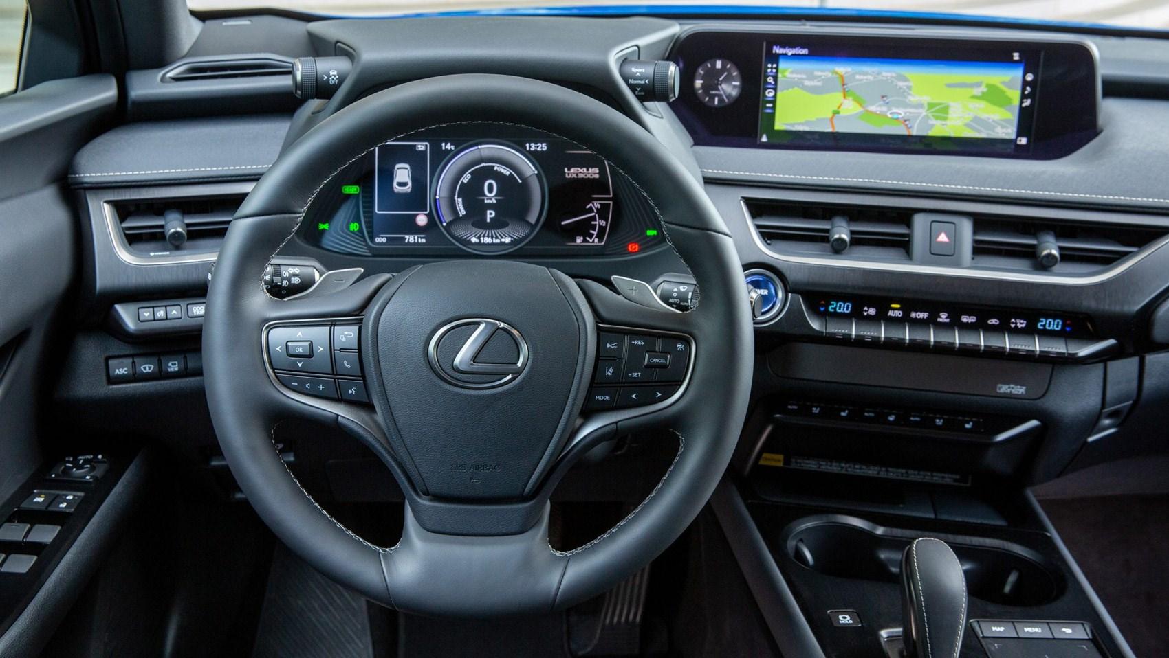 Lexus UX electric interior