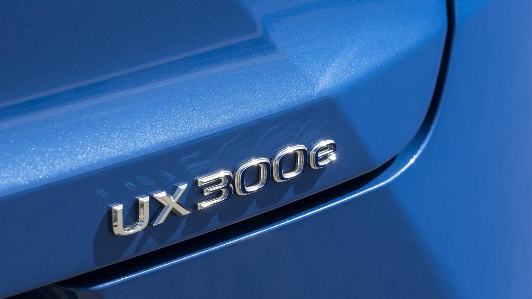 Lexus UX electric badge