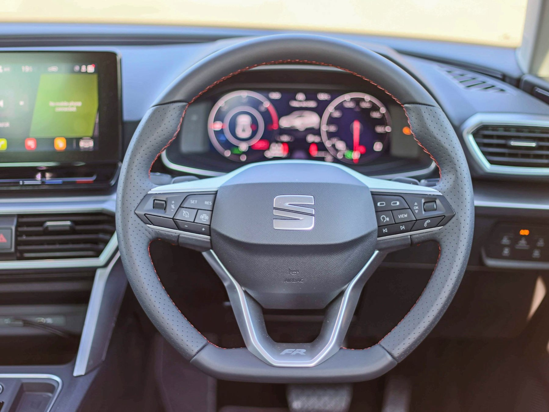 Seat Leon PHEV steering wheel