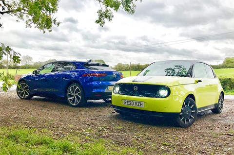 Honda E meets Jaguar i-Pace: which EV would you choose?