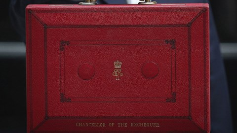 The chancellor's red briefcase