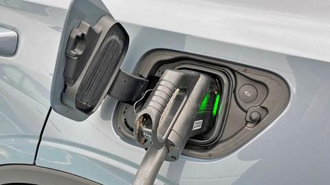 Grey Polestar 2 charging point
