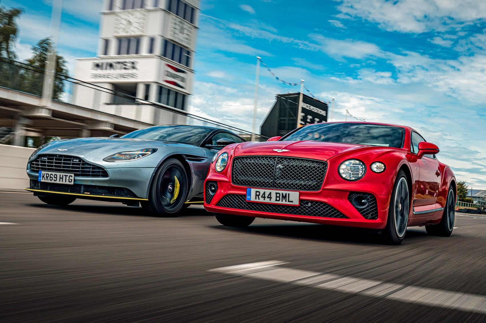 Aston Martin Db11 Amr Vs Bentley Continental Gt Long Termer Twin Test Review Car Magazine