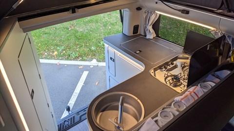 2020 Ford Transit Custom Nugget kitchen