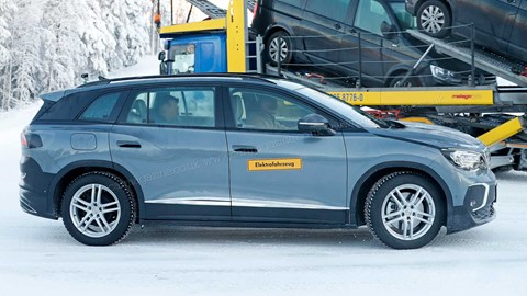 Check out the long wheelbase: VW ID.6 is l-o-n-g for three rows of seats
