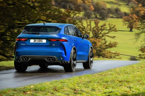 Jaguar F-Pace SVR 2021 driving rear
