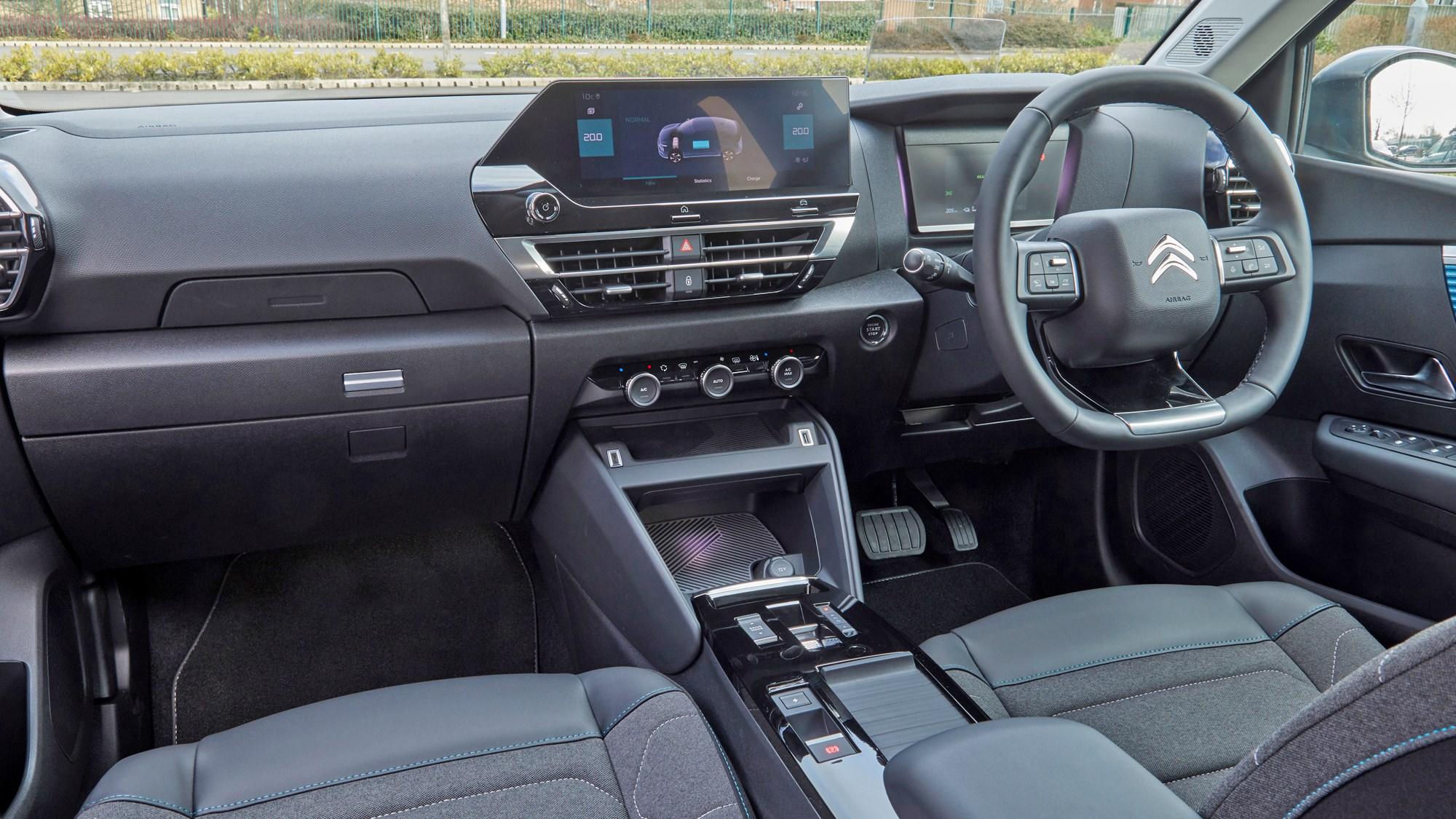 Grey 2021 Citroen e-C4 dashboard