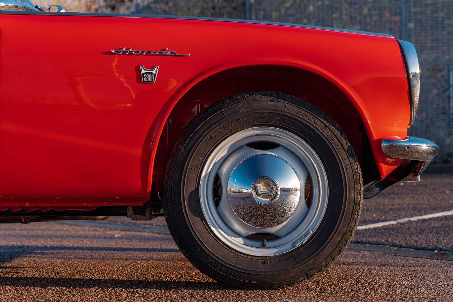 Honda S800 bonnet and wheel