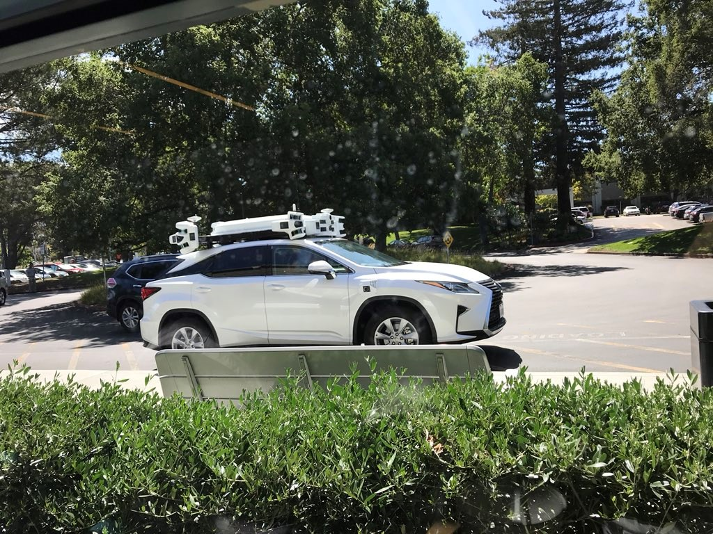 Lexus RX autonomous car prototype spotted near Apple HQ