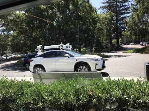 Lexus RX autonomous car prototype spotted near Apple HQ
