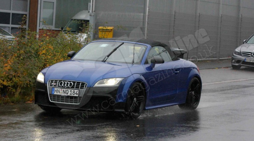 Audi TT RS roadster spy photos