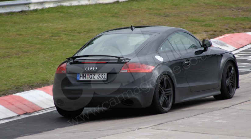Audi TT black. They are likely to cost around £40000 when sales start in