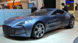 Aston Martin One-77 at the Geneva motor show