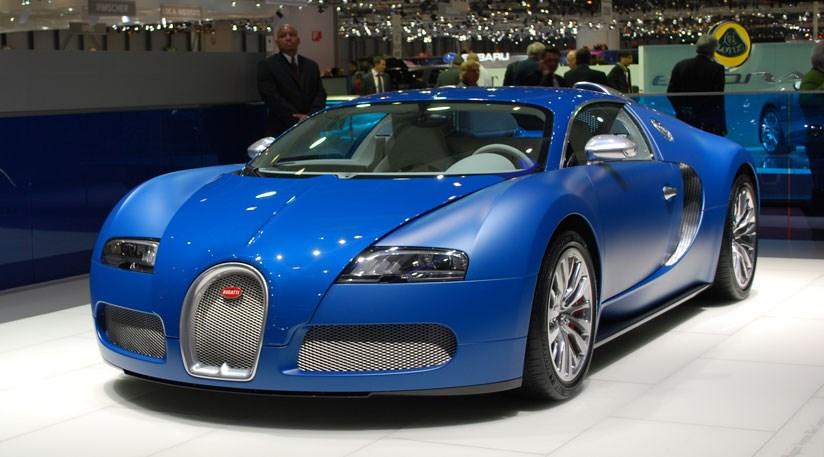 Bugatti Veyron Blue Centenaire Unveiled At Geneva Motor - Cool cars bugatti