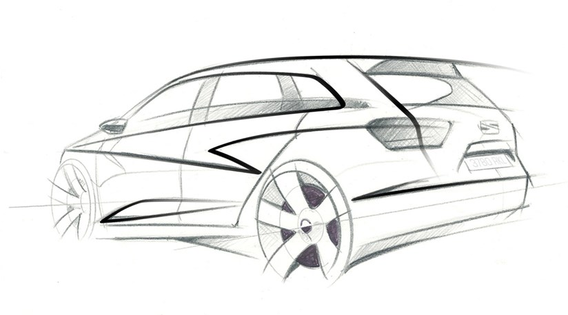 Seat Ibiza St Concept 2009 First Design Sketch Car Magazine